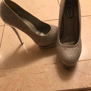 Shoes - Silver stilettos heels